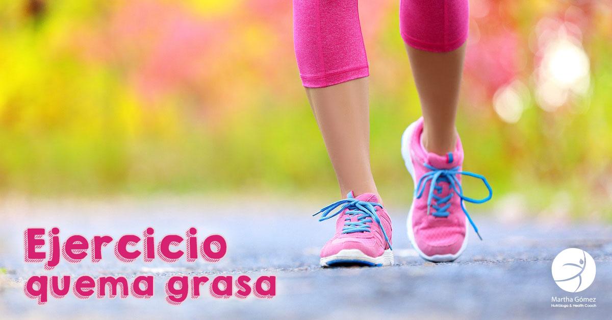 EJERCICIO QUEMA GRASA   Nutrióloga & Health Coach Martha Gómez